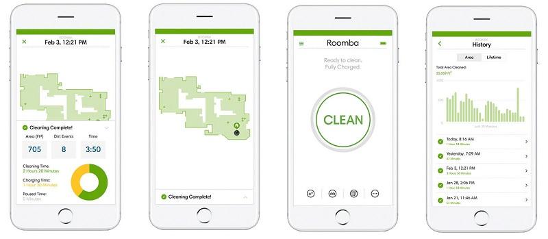 отчёты Roomba 976 о проделанной работе